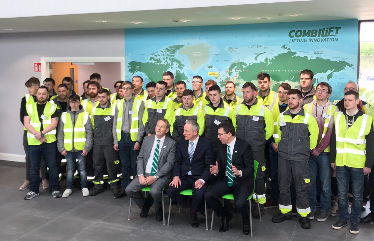 Richard Bruton Visiting CombiLift's Official Factory Opening